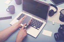Web design mockup Stock Image