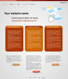 Web design modern template Royalty Free Stock Photos