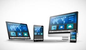 Web design moderno in sito Web rispondente Fotografia Stock