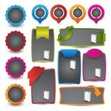 Web design navigation set Stock Photos