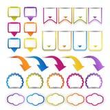 Web design navigation set Royalty Free Stock Images