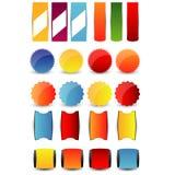 Web design navigation set. Illustration of Web design navigation set design Royalty Free Stock Photos