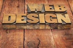 Web design nel tipo di legno immagine stock