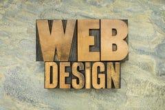 Web design nel tipo di legno Fotografie Stock