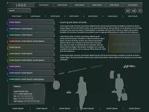 Web design nello stile di vetro Fotografie Stock Libere da Diritti