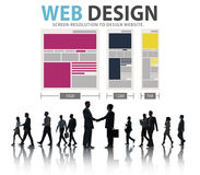 Web Design Network Website Ideas Media Information Concept Royalty Free Stock Photos