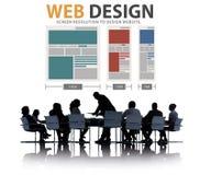 Web Design Network Website Ideas Media Information Concept royalty free stock photos