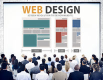Web Design Network Website Ideas Media Information Concept Royalty Free Stock Image