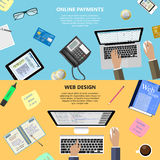 Web design and online payments concept Royalty Free Stock Photo