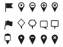Web design pointer icons set Stock Photography