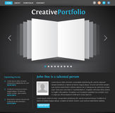 Web design portfolio template Stock Photography