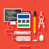 Web design. Program for design and architecture. Royalty Free Stock Photography