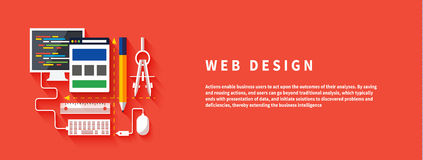 Web design. Program for design and architecture. Royalty Free Stock Images