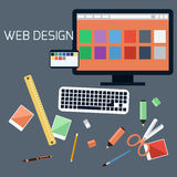 Web design. Program for design and architecture. Royalty Free Stock Image