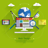 Web design. Program for design and architecture. Royalty Free Stock Photos
