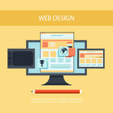 Web design. Program for design and architecture. Stock Photography