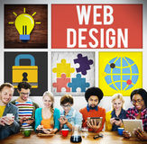 Web Design Programming Technology Online Concept Stock Photography