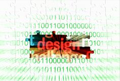 Web design puzzle concept Royalty Free Stock Photo