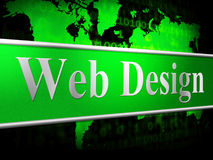 Web Design Represents Net Website And Www Stock Images