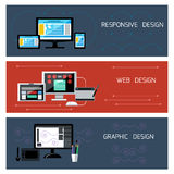 Web design, responsive and graphic design Royalty Free Stock Photography