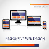 Web Design. Responsive Web Design on a white background Royalty Free Stock Photography