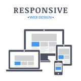 Web design rispondente Fotografie Stock