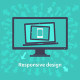 Web design rispondente illustrazione di stock