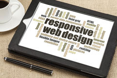 Web design rispondente Fotografia Stock