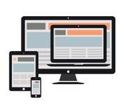 Web design rispondente Fotografia Stock Libera da Diritti