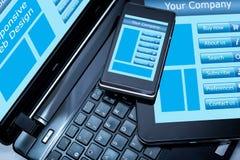 Web design rispondente Immagini Stock