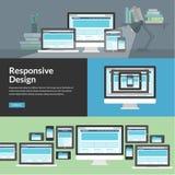 Web design rispondente per i dispositivi differenti Immagine Stock Libera da Diritti