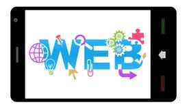 Web design rispondente Smartphone Immagini Stock Libere da Diritti