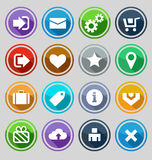 Web design round buttons set Stock Photography