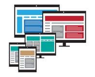 Web design sensible Photos stock