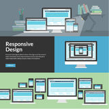 Web design sensible pour différents dispositifs Image libre de droits