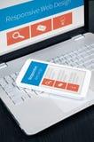 Web design sensible sur des périphériques mobiles Image stock
