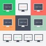 Web design sensible sur différents moniteurs Photo stock