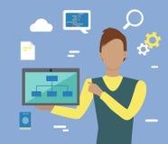 Web Design, SEO Infographic Concept Stock Photos