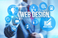 Web design. Service concept illustration