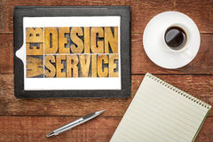 Web design service on tablet Royalty Free Stock Image