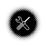 Web design of service tools icon Royalty Free Stock Image