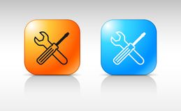 Web design of service tools icon Stock Photos