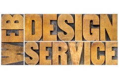 Web design service typography Stock Photo
