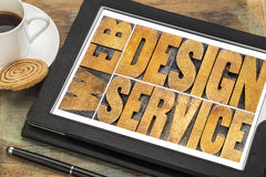 Web design service typography Royalty Free Stock Images