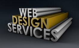 Web Design Services. As a Concept in 3d Royalty Free Stock Photos