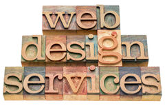 Web design services Royalty Free Stock Photography
