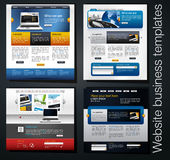 Web design set. Vector Web design set with lorem ipsum text. You can use this modern designs for your web projects Stock Photography