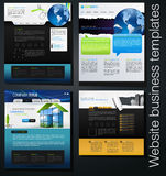 Web design set. Vector Web design set with lorem ipsum text. You can use this modern designs for your web projects Royalty Free Stock Photo