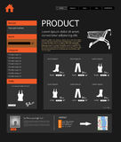 Web Design shop template Royalty Free Stock Images