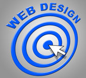 Web Design Shows Websites Online And Internet Royalty Free Stock Photo